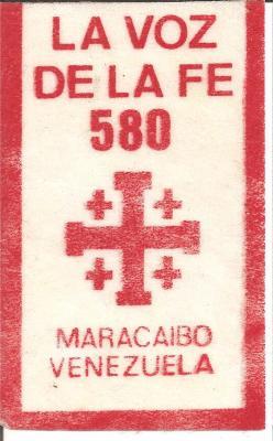 Banderin La Voz de la Fe 580 AM