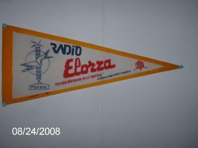 Banderin Radio Elorza 720 KHZ