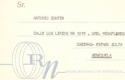 QSL Radio Nacional de Venezuela