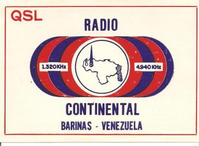 Tarjeta QSL Radio Continental