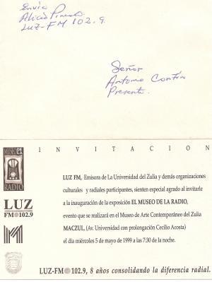 Invitacion a la exposición El Museo de la Radio.