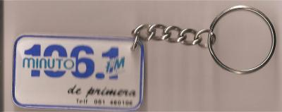 Llavero Radio Minuto 106.1 FM