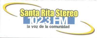 Calcomania Santa Rita Stereo 102.3 FM