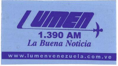 Calcomania Radio Lumen 2000