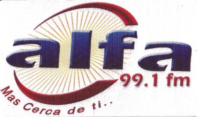 Calcomania Alfa 99.1 FM
